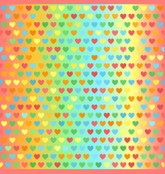 Heart pattern seamless glowing vector