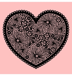 lacy heart vector image vector image