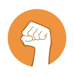raised fist vector image