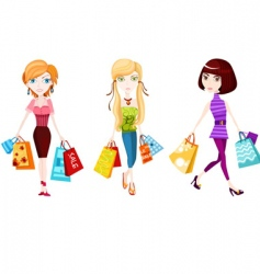 shopping vector image vector image