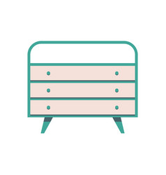 sideboard flat it is executed in the old vector image vector image