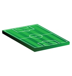 Soccer field on a white vector