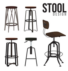 stool design vector image vector image