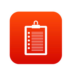 to do list icon digital red vector image