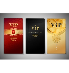 Vip cards set vector image vector image