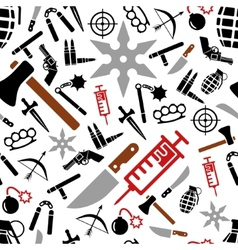 Weapon seamless pattern vector
