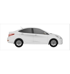 white car background vector image vector image