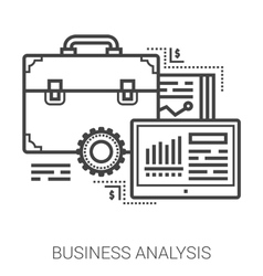 Business analysis line icons vector