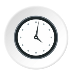 Wall mounted round mechanical watch icon vector