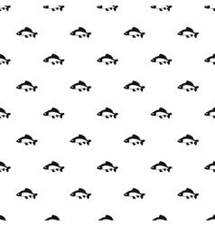 Carp fish pattern simple style vector