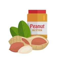 Peanuts with peanut butter vector