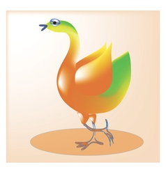 Cheerful bird1 vector