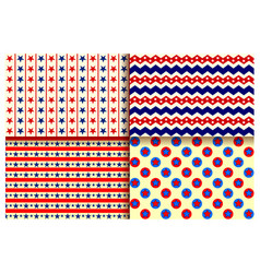 Seamless pattern for fourth of july background for vector