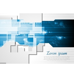 Corporate technology card design vector