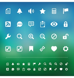 Retina interface icon set vector