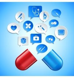 Medicine and healthcare concept vector