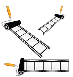 Film tape with roller color vector