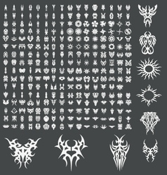 Huge tribal tattoo design pack vector