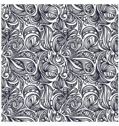 Floral monochrome pattern vector