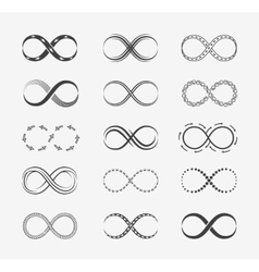 Infinity line icons vector