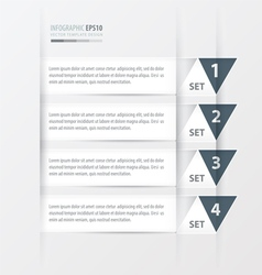 Triangle modern infographics banner white color vector