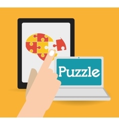 Puzzle icons design vector