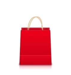 Red Empty Shopping Bag vector image