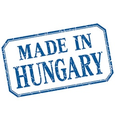 Hungary - made in blue vintage isolated label vector