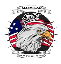 Authentic spirit of usa emblem vector