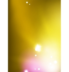 Yellow shiny blurred sky background vector