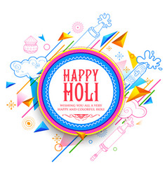 Abstract happy holi background for festival o vector