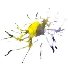 Beautiful traced watercolor splatter vector image vector image