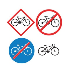 Bicycle Road Sign Symbol vector image vector image