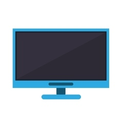 Blue computer technology work device vector