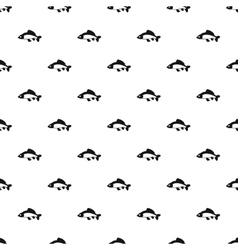 Carp fish pattern simple style vector