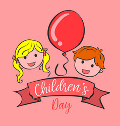 collection style background childrens day vector image vector image