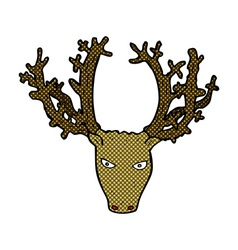 comic cartoon stag head vector image