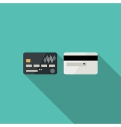 Credit cards icons vector image