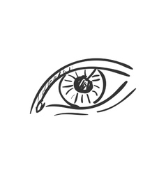 Eye doodle drawing vector