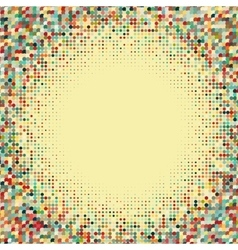 Flat colored frame with retro halftone dots vector image vector image