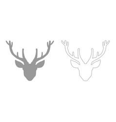 Head deer set icon vector