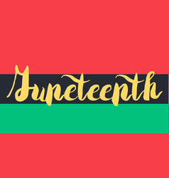 Juneteenth banner with flag vector