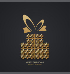 modern christmas or 2018 happy new year vector image