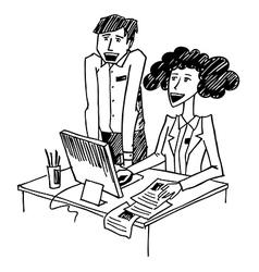 office conversation vector image