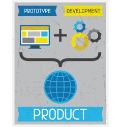 Product retro poster in flat design style vector