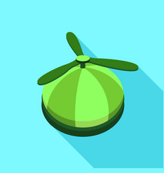 Propeller hat icon flat style vector