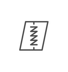 Seam line icon vector