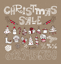 set of elements for christmas sale vector image