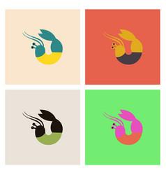 Shrimp set vector