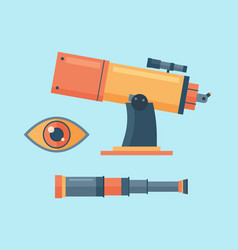 Telescope for astronomy science space discovery vector